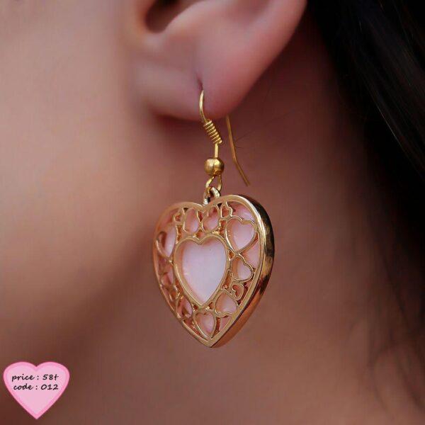 گوشواره آويز قلبي
