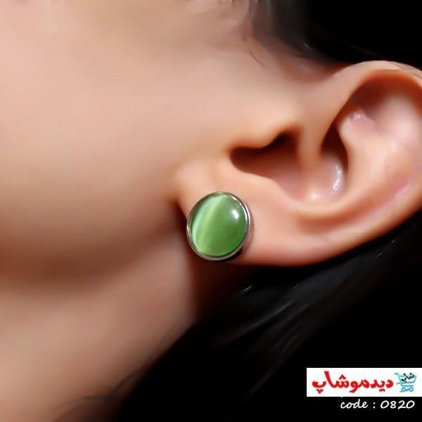 گوشواره نیم ست سبز