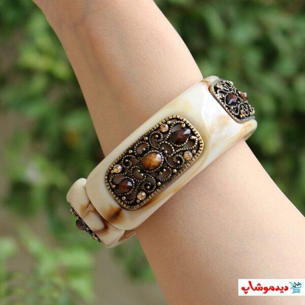 دستبند گلبهی سرامیکی