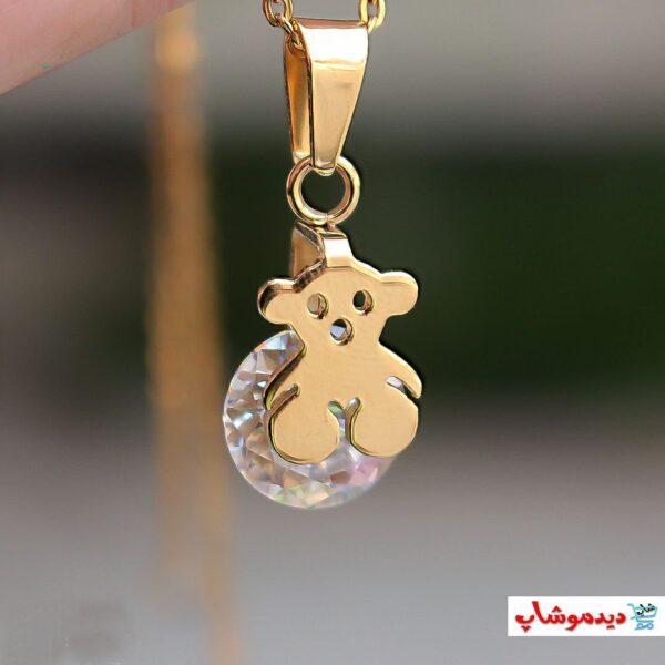 مدال آویزی گردنبند خرس عروسکی