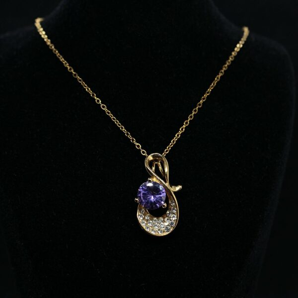 گردنبند استیل دخترانه آبکاریش شده با طلا