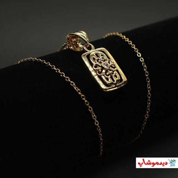 گردنبند استیل مارک آبکاری شده با طلا