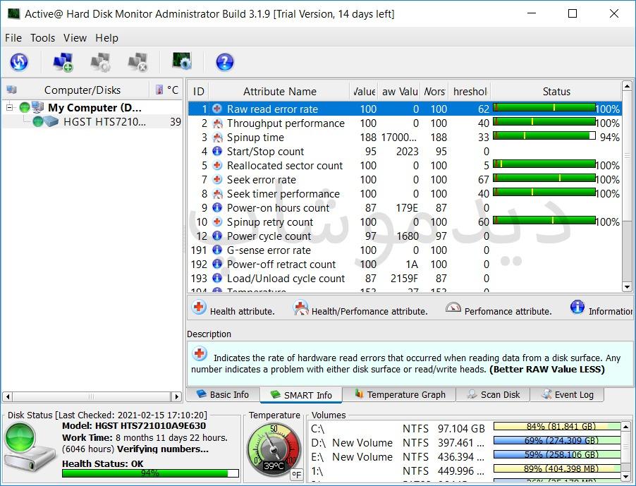 نرم افزار Active Hard Disk Monitor