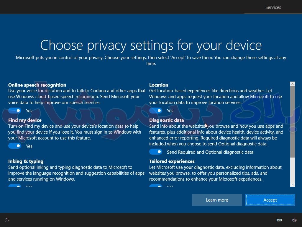 سرویس های ویندوز 10