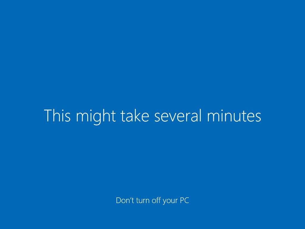چند دقیقه آخر نصب ویندوز 10