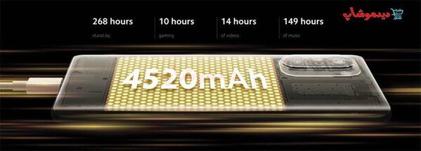 باتری گوشی شیائومی POCO F3 5G ظرفیت 128GB و رم 6GB